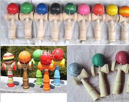 Wholesale Kendama Wooden - 2017 Kendama Ball Japanese Traditional 15 Colors 18cm Wood Game Toy Education Gifts Hot Sale Activity Gifts toys
