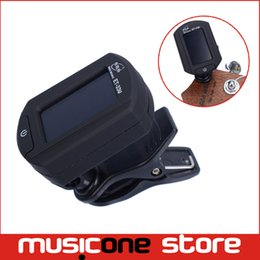 Wholesale Digital Clip Tuner - ENO ET-33U Clip on Digital Tuner for Ukulele Black Chromatic Guitar tuner Free shippingMU0098