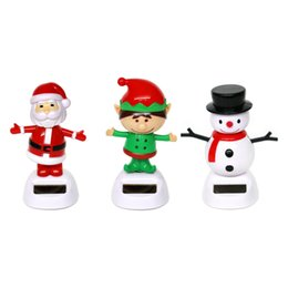 Wholesale Solar Powered Dancing Toys Wholesale - Wholesale- Xmas Types Cute Solar Powered Dancing Toys For Table Desk Home Car Christmas Decor New Lovely Toys