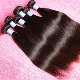 Wholesale Cheap Wholesale Products Free Shipping - Cheap Indian Virgin Hair Straight 5pcs Lot Free Shipping 100% Unprocessed Raw Indian Hair Tag Beauty Hair Products 3,4,5pcs lot