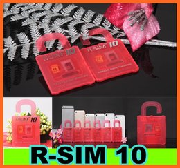 Wholesale R Sim 5c - New R SIM 10 RSIM 10 R-SIM 10 Unlock Card Perfect unlock iphone 6 plus iphone 6 5s 5c 5 4s IOS8 ios 8.x AT&T T-mobile Sprint WCDMA GSM CDMA