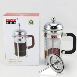 Wholesale Wholesale Tea Press - French press coffee and tea maker French filter coffee press plunger with stainless steel filter portable