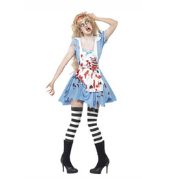 free vampire movie NZ - Angel Devil Zombie Vampire One-Piece Dress Cosplay Costumes Masquerade Female Halloween Carnival Day of the Dead Festival Holiday