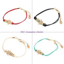 Wholesale Fashion Luck Bracelets - Wholesale-High Quality Fashion Jewelry Charm Hamsa Hand Good Luck Evil Eye Rope Bracelet