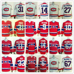 Wholesale price ice - Youth Montreal Canadiens Shea Weber Carey Price Max Pacioretty Galchenyuk Richard Guy Lafleur PATRICK ROY Gallagher Kids Hockey Jerseys