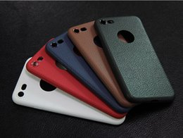 Wholesale Iphone 5s Shock Cases - 100PCS 0.8MM Leather line Anti-fingerprint Anti-shock TPU Shockproof Phone Case Cover for iPhone X 5 5s 6 7 8 Plus free DHL