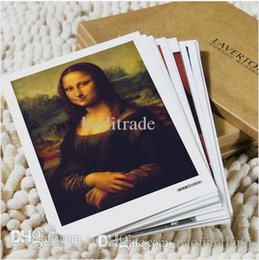 Wholesale Christmas Painting Famous - [LAVERTON]Postcard set  Christmas Greeting Cards - Famous Oil Painting of Da Vinci Picasso Van Gogh 16 pcs Free shipping