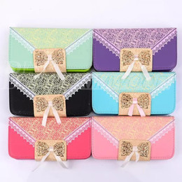Wholesale Stand Holder Pouch Case - For Iphone 6 4.7inch Iphone 6 plus Cases 5.5 inch Frame Crystal Rhinestone wallet PU Leather Case cover pouch with stand credit card Holder