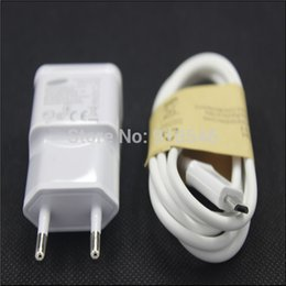 Wholesale Wall Charger S2 - Wholesale-2A EU Plug Wall Charger + USB Data Cable For Samsung Galaxy S4 I9500 S3 I9300 S2 Note2 N7100 N9006 Cargador Chargeur