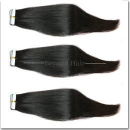 Wholesale Cheap Taped Hair Extensions - Cheap 7A Remy Full Head Tape hair extensions 2.5g 20piece lot Tape Human Hair Extension