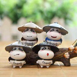 miniature Sconti Miniature Cartoon Panda Resin Craft Fairy Garden Fornitura Dollhouse Ornament Moss Terrarium Micro Paesaggio Bonsai Decorazione Regali per bambini