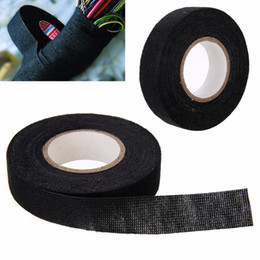 Wholesale Cable Mask - 1pc Heat-resistant Wiring Harness Tape Looms Wiring Harness Cloth Fabric Tape Adhesive Cable Protection 19mm x 15M