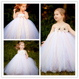Wholesale strapless halter beach dress - Flower Girls Dresses For Weddings Kids Beach Wedding Dresses Girls Dress Sweet Strapless and Backless Princess Dress Flower Girls Dresses