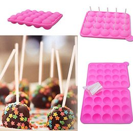 Wholesale Cup Cake Trays - Tasty Top Lolly Pop Cake Pops Mould 20 Cup Tasty Top Cake Pop Mold Tray Easy Instant Silicone Baking Mold Cake Pop m1035