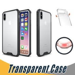 Wholesale Black Plastic Edging - Ultra-thin Soft TPU Hard PC Clear Case Cover Crystal Transparent Hybrid Cases For iPhone X 8 7 6S Plus Samsung Note 8 S8 S9 Plus S7 Edge