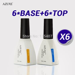 Wholesale Uv Gel Brands Nails - 2015 new arrival Diamond new brand Azure Nail Gel Top Coat Base Coat Foundation for UV Gel Polish high quality free shipping