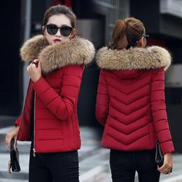 Wholesale Winter Jacket Fur Wadded - Large Fur Collar Winter Jacket Women Collar Down Wadded Jacket Female Cotton-padded Jacket Thickening Women Winter Coat