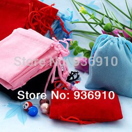 Wholesale Organza Bags 5x7cm - Wholesale-Casket Ring Makeup Organizer Jewelry Display Free Shipping Wholesale 100pcs Mix Color 5x7cm Velvet Bag jewelry Bag organza Pouch