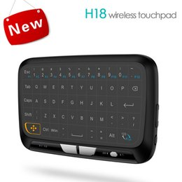 Wholesale Panel Laptop - H18 Multifunctional Wireless Mini Keyboard 2.4GHz Whole Panel Touchpad Air Mouse Li-ion Battery Remote Control Xbox Android tv box Laptop