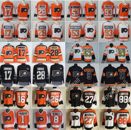 Wholesale Anti Green - Philadelphia Flyers Jersey Hockey 53 Shayne Gostisbehere 17 Wayne Simmonds 28 Claude Giroux Jakub Voracek Ivan Provorov Konecny Eric Lindros