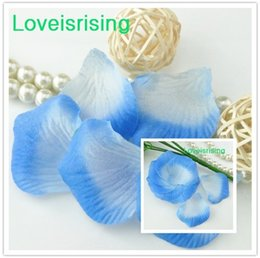 Wholesale Rose Fabric Baby - Free Shipping--10 packs(1440pcs) Baby Blue Non-Woven Fabric Artificial Rose Flower Petal For Wedding Party Favor Decor