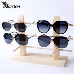 Wholesale Wood Glass Rack - 10 8 6 6 5 4 3 2 1 Wood Sunglasses Racks For Glasses Fashion Sunglasses Wooden Display Eyewear Stand Bamboo Holder Sunglasses