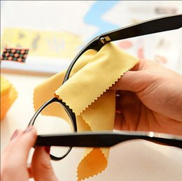 Wholesale Wholesale Microfiber Cloths For Glasses - 100 pcs NEW 14x14cm Colorful Microfiber Eyeglasses Cleaning Cloth for Eyewear glasses Phone Sunglasses lens Tablet Camera Screen cloth