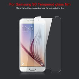 Wholesale Mirror Screen S4 - For Samsung Galaxy S6 Edge S5 S4 S3 Note 4 5 9H Tempered Glass Screen Protector 0.33mm 2.5D Japan AGC glass For iphone 6 Plus 5 4 2015 Hot