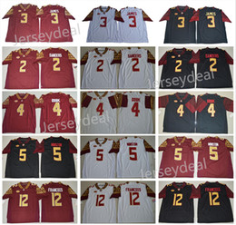 Wholesale Cooking Oranges - Men's Florida State Seminoles College Jersey 3 Derwin James 4 Dalvin Cook 2 Deion Sanders 12 Deondre Francois Red White Black