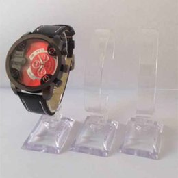 Wholesale Watches Showcase Stand - Fashion Clear Acrylic Bracelet Watch Display Holder Arc-shaped Jewellery Stand Rack Retail Shop Showcase
