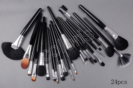 Wholesale Mink Makeup Brushes - 1pcs Makeup 24piece Brushes Sets With Leather Pouch