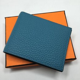 Wholesale Fresh Male - Genuine Leather Men Fashion Wallets High Quality Design Wallet with Credit Card ID Holder Purses Gift For Men Card Holder Bifold Male Purse