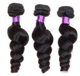 Wholesale real roll - Brazilian real curtains natural color screw rolls human wig head stand hair loose wave Under $50
