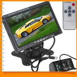 Wholesale Hdmi Reverse Camera - HD 800 x 480 7 Inch Color TFT LCD Car Rear View Monitor Parking HDMI + 7 IR Lights Auto Car Reverse Rearview Camera + Remote