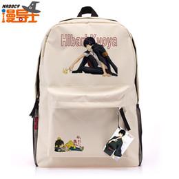 Wholesale Hibari Kyoya - Wholesale-Man with disabilities lead tutor Kyoya Hibari leisure backpack schoolbag travel bag animation around