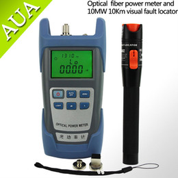 Wholesale Power Cable Fault - Wholesale-10mW Visual Fault Locator Fiber Optic Cable Tester and Optical Fiber Power Meter (-70dBm~+6dBm) Fiber Optic Power 10Km test pen