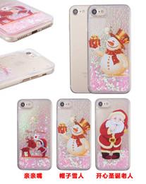 Wholesale Iphone Snowman - For iphone 6 6s 7 8 plus X Cute Christmas Theme Gift Santa Snowman Heart Liquid glitter soft phone case cover