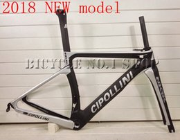 Wholesale Cipollini Bikes - 2018 NEW T1000 MCipollini NK1K Cipollini black silver full carbon road bike frame racing bicycle frameset size XXS XS S M L taiwan frames