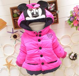 Wholesale Girls Baby Winter Warm Coats - Kids clothing winter baby girl long sleeve jacket children cartoon warm coat girls top free shipping