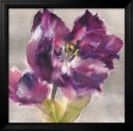 contemporâneo flores pinturas Desconto pinturas da flor da arte contemporânea por Brent Heighton Purple Flourish pintados à mão óleo sobre tela de alta qualidade