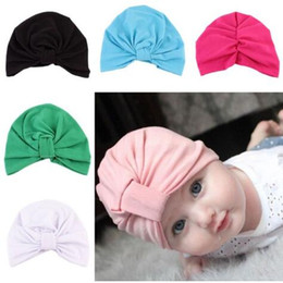 Wholesale Toddler Fashion Hats - Baby Caps Muslim Hats Newborn India's Skull Caps Toddler Fashion Hats Rabbit Ear Soft Cotton Winter Bohemia Beanie cap KKA3231