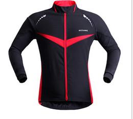 Wholesale Reflective Running Jackets - WOSAWE Winter Autumn Windproof Cycling jacket Long Sleeve Cycling Jersey Clothing Wear Reflective Running Bike Jackets FREE SHIPPING