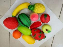 2019 sacs à fruits en gros En gros 8-18cm pomme mangue fraise Squishy jumbo simulation Fruit kawaii Artificielle lente montée squishies queeze jouets sac téléphone chaîne sacs à fruits en gros pas cher