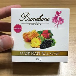 Wholesale Retail Essential Oils - Bumebime Mask Natural Soap Skin Body wedding soap Handwork bath bombs Whitening Soap with Fruit Essential White Bright Oil retail in Stock