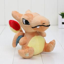 Wholesale 12 Cartoon Animals Bag - New Style Game Plush Pikachu Plush Toys Cartoon 5'' Charizard Stuffed Animal Dragon Dolls with Opp bag