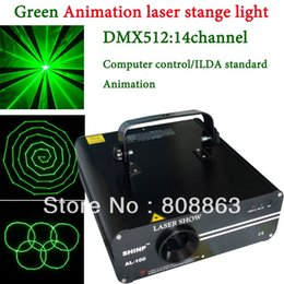 Wholesale Laser Ilda - Green 100mw Laser projector Party Bar Club dmx512 ILDA lighting light DJ Disco Dance KTV Professional Animation Stage Light show