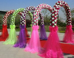 Wholesale Blue Tulle Rolls - Party Decoration Wedding Decoration Decorative Mesh Wedding Party Creative Lace Arch Sheer Organza Roll Romance Illusion Bi