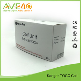 Wholesale Ego Kanger Bcc - Wholesale 100% Original Kanger T3S & MT3S BCC Clearomizer Replacement Coil eGo Thread 2.5ohm 5-Pack 3.0ml 1000 puffs