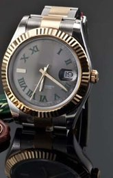 Wholesale Mens 18k Watch - Luxury WATCHES SLATE GREEN ROMAN 41mm 18K & STEEL 116333 MENS WRIST WATCH Man Wristwatch