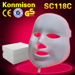 Wholesale Led Beauty Facial Mask - 3 Colors Photon Light LED Facial Mask Beauty Therapy machine Skin Rejuvenation and acne treatment dark cricle removal for home personal use